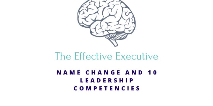 Podcast Name Change and 10 Leadership Competencies