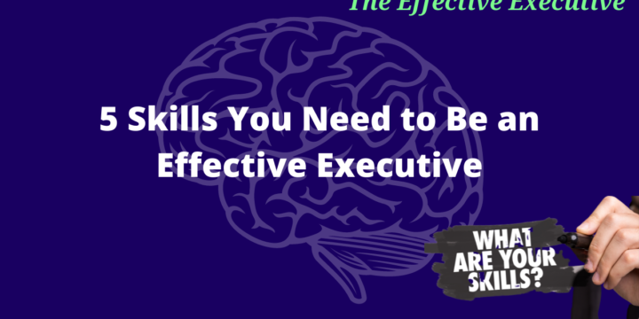 5 Skills You Need to Be an Effective Executive