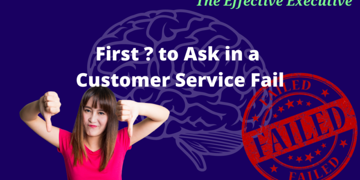 First Question to Ask in a Customer Service Fail