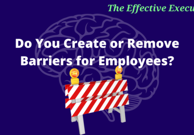 The Effective Executive – Do You Create or Remove Barriers for Employees?